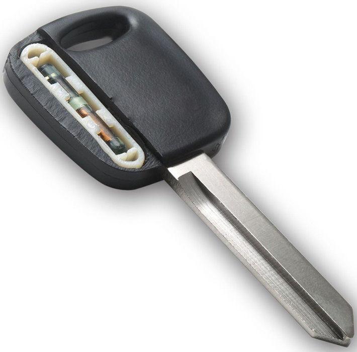 Расположение транспондера в ключе
