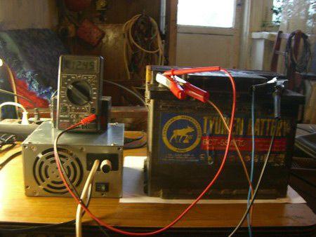 Зарядное устройство из блока питания системного блока