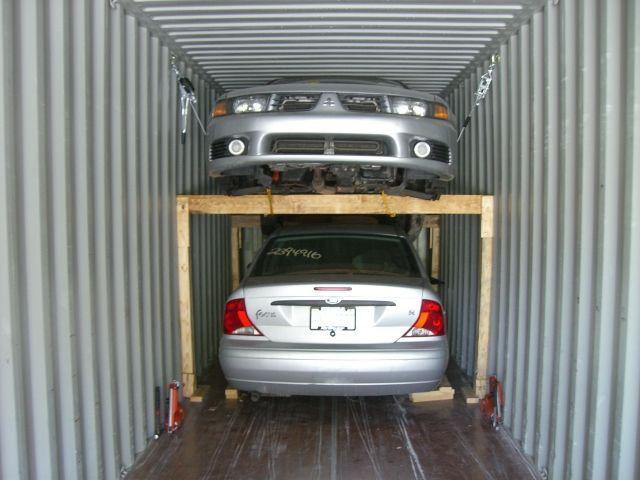 Авто в контейнере