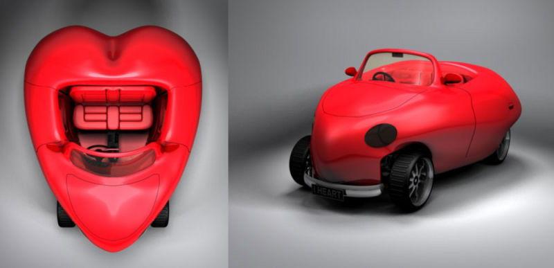 Автомобиль в виде сердца