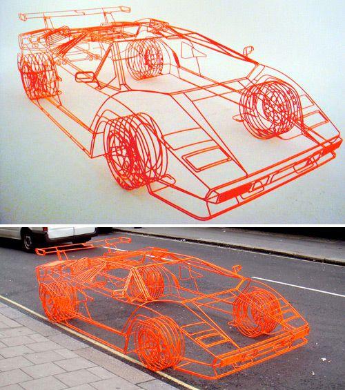 Lamborghini из проволоки