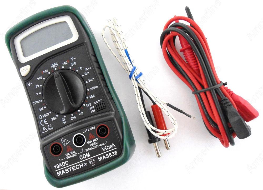 Мультиметр с проводами