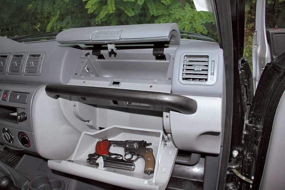 Оружие в салоне автомобиля