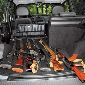 Оружие в багажнике автомобиля