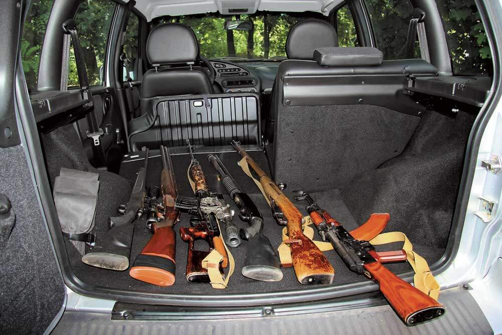 Правила провоза охотничьего ружья в автомобиле