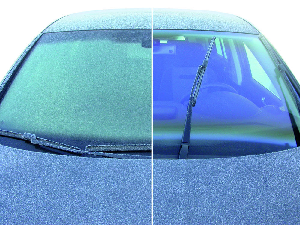 Разморозка стекол автомобиля