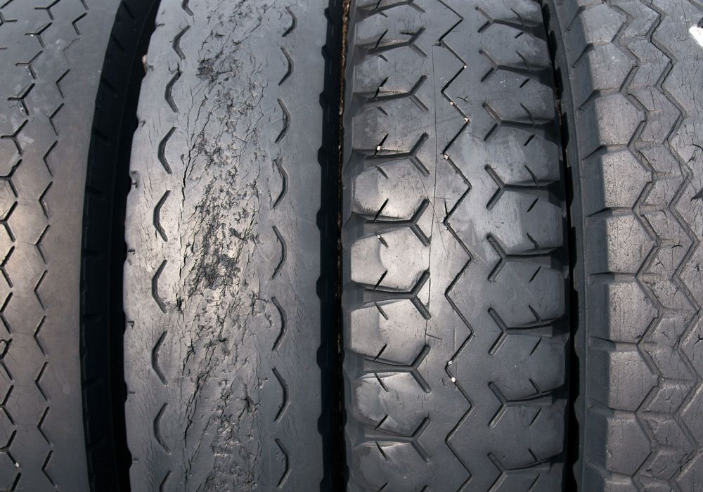 Изношенные шины