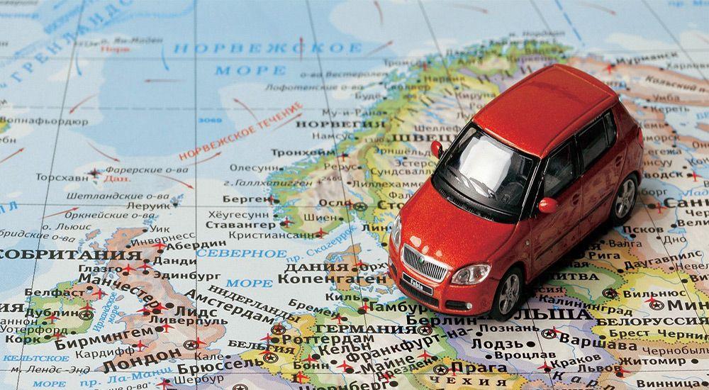 Карта и автомобиль