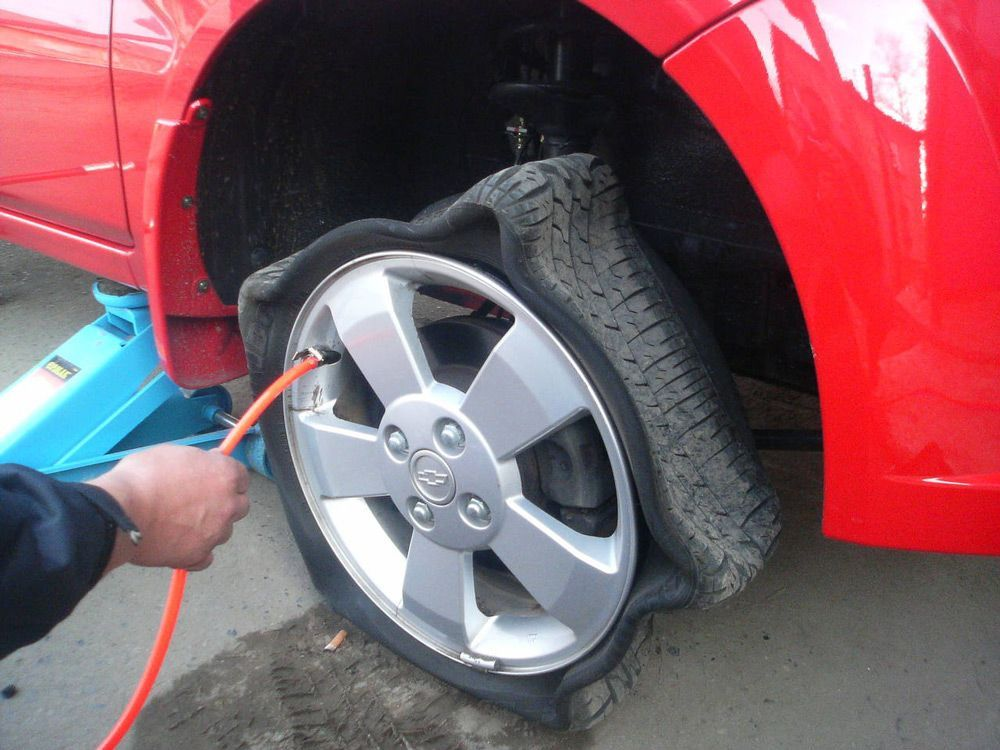 Процесс накачки шины