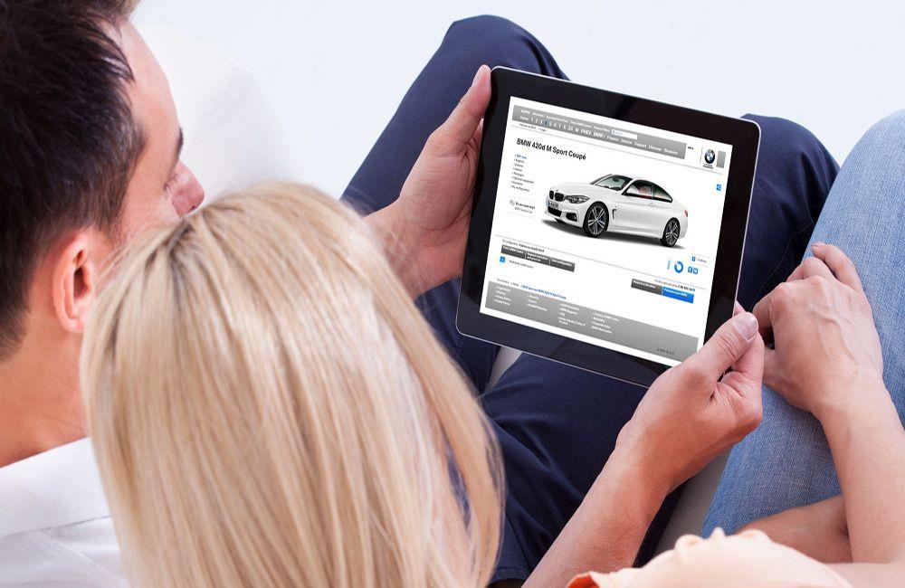 Поиск автомобиля в интернете