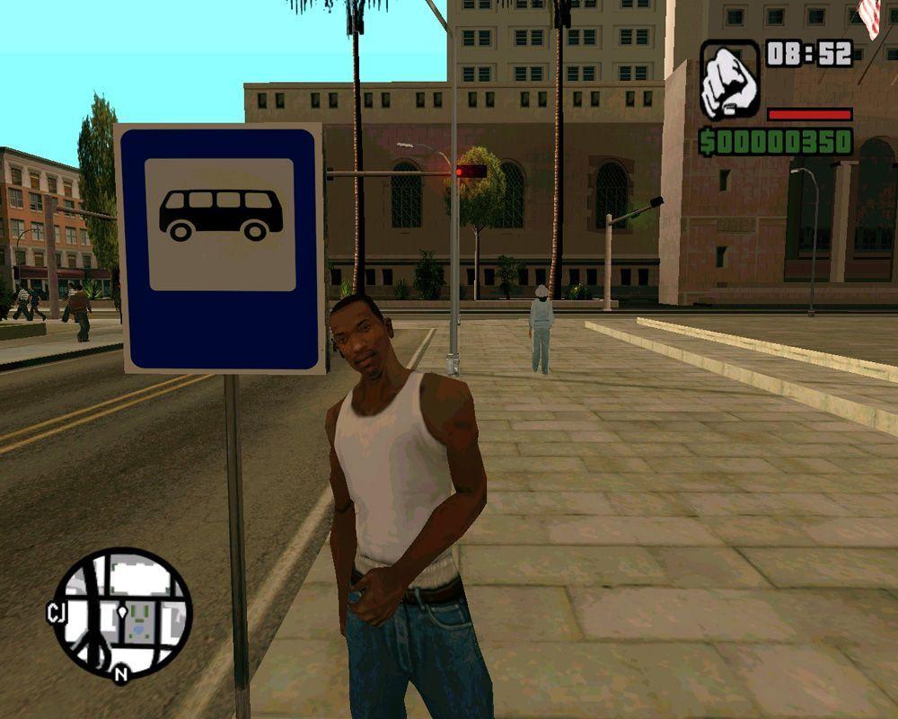 GTA автобусная остановка