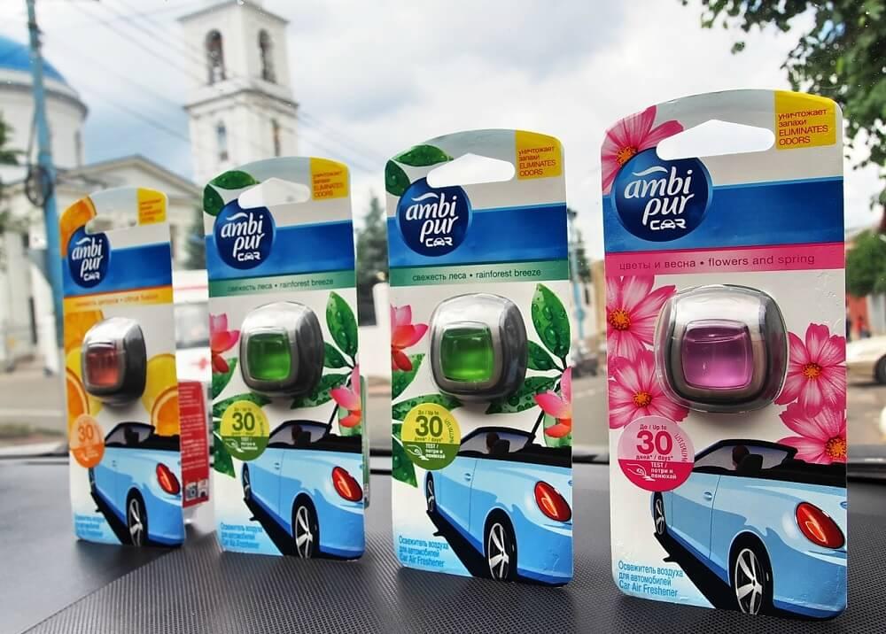 Ароматизаторы воздуха в салоне автомобиля