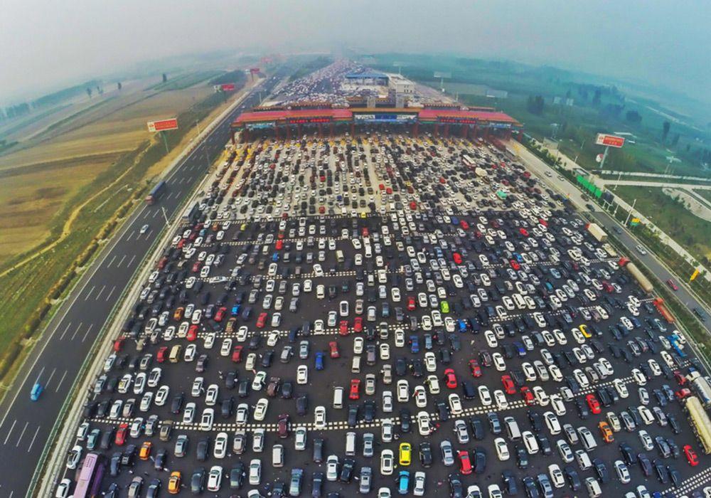 Пробка в Китае