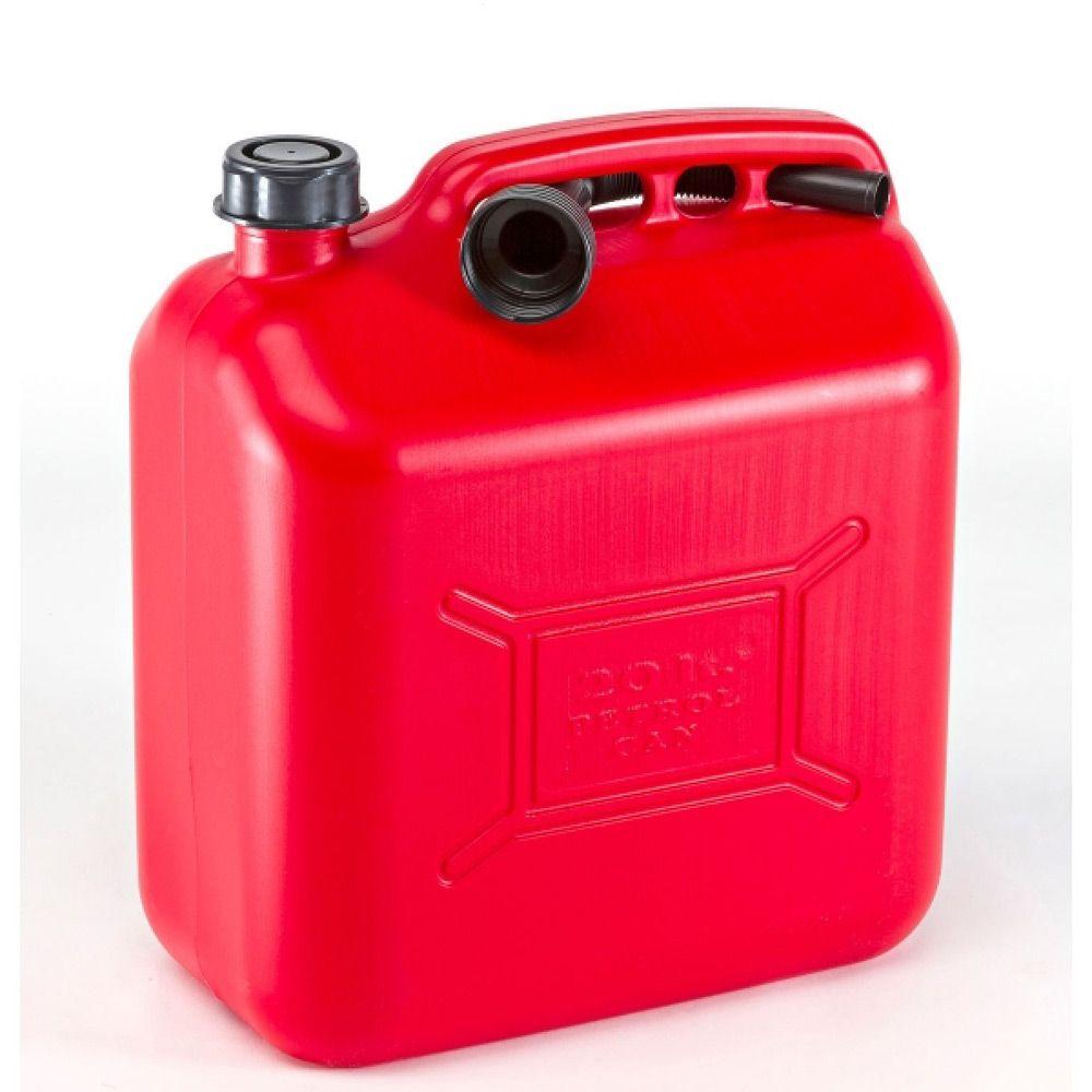 Красная пластиковая канистра