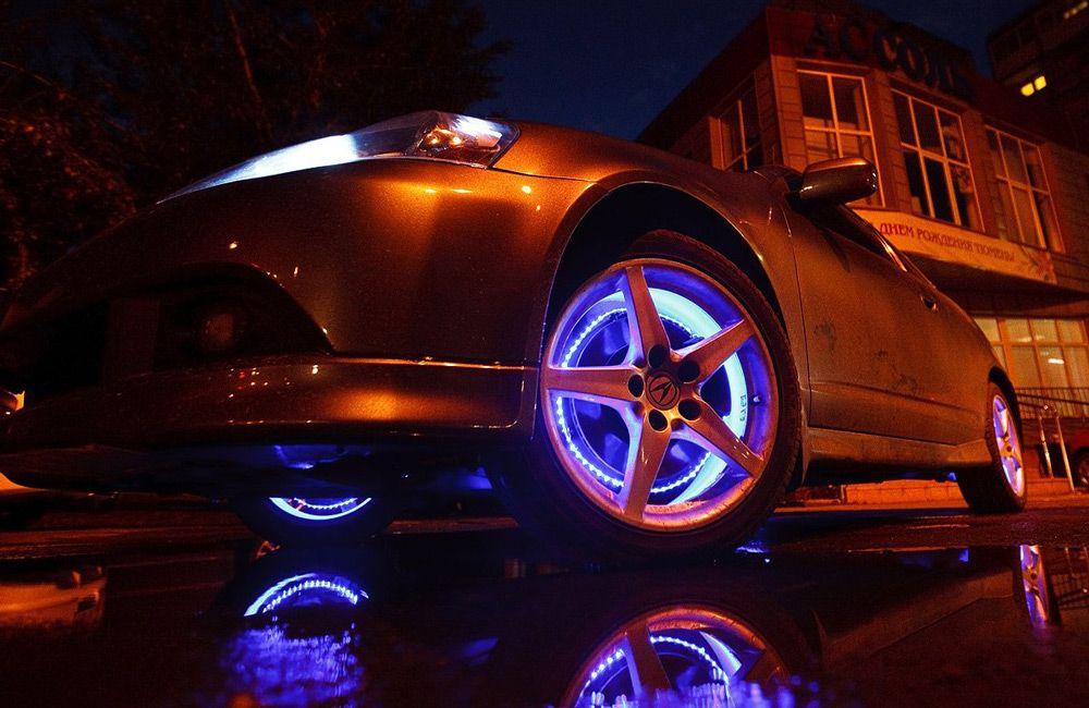 Делаем сами подсветку дисков у автомобиля
