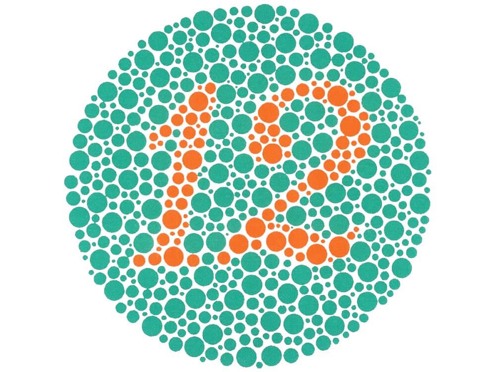 Проверка зрения на цветоощущения