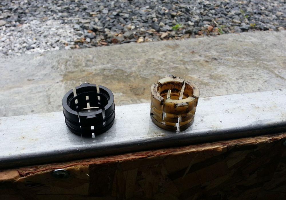 Новая и старая рулевые рейки