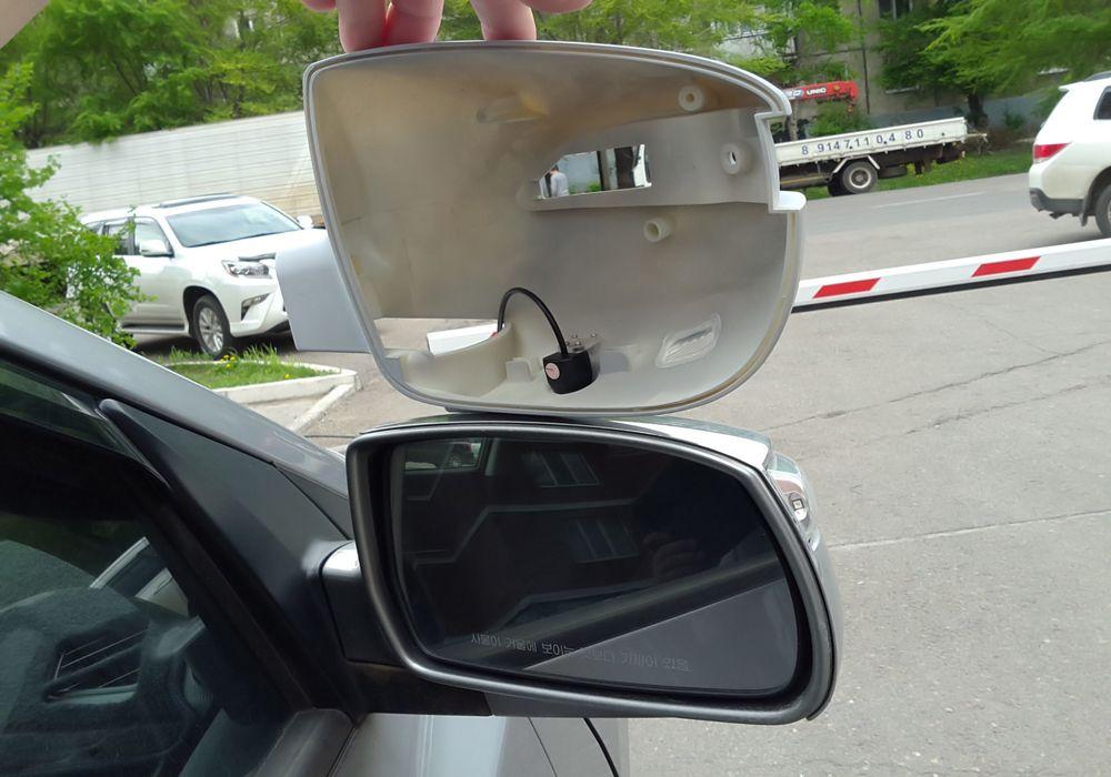 Установка камеры в боковое зеркало