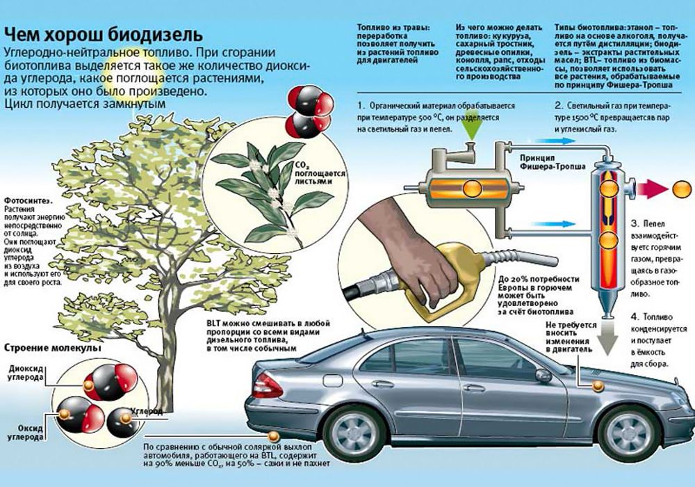 Чем хорош биодизель