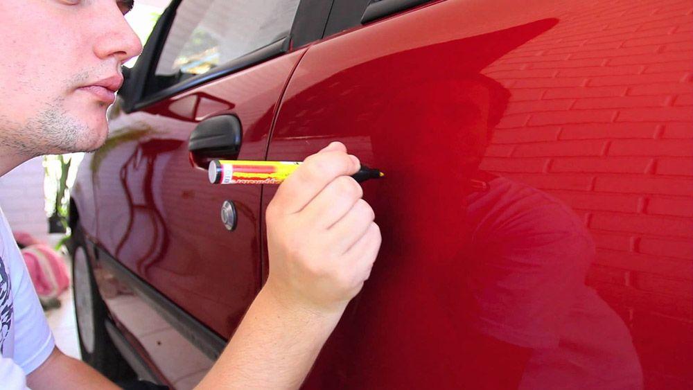 Использование воскового карандаша