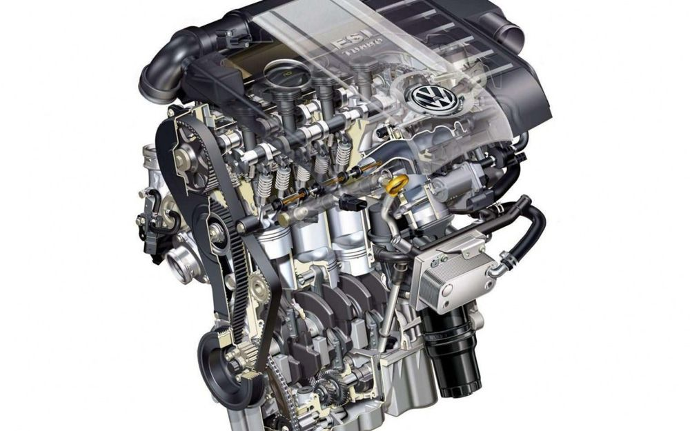 Контуры двигателя FSI