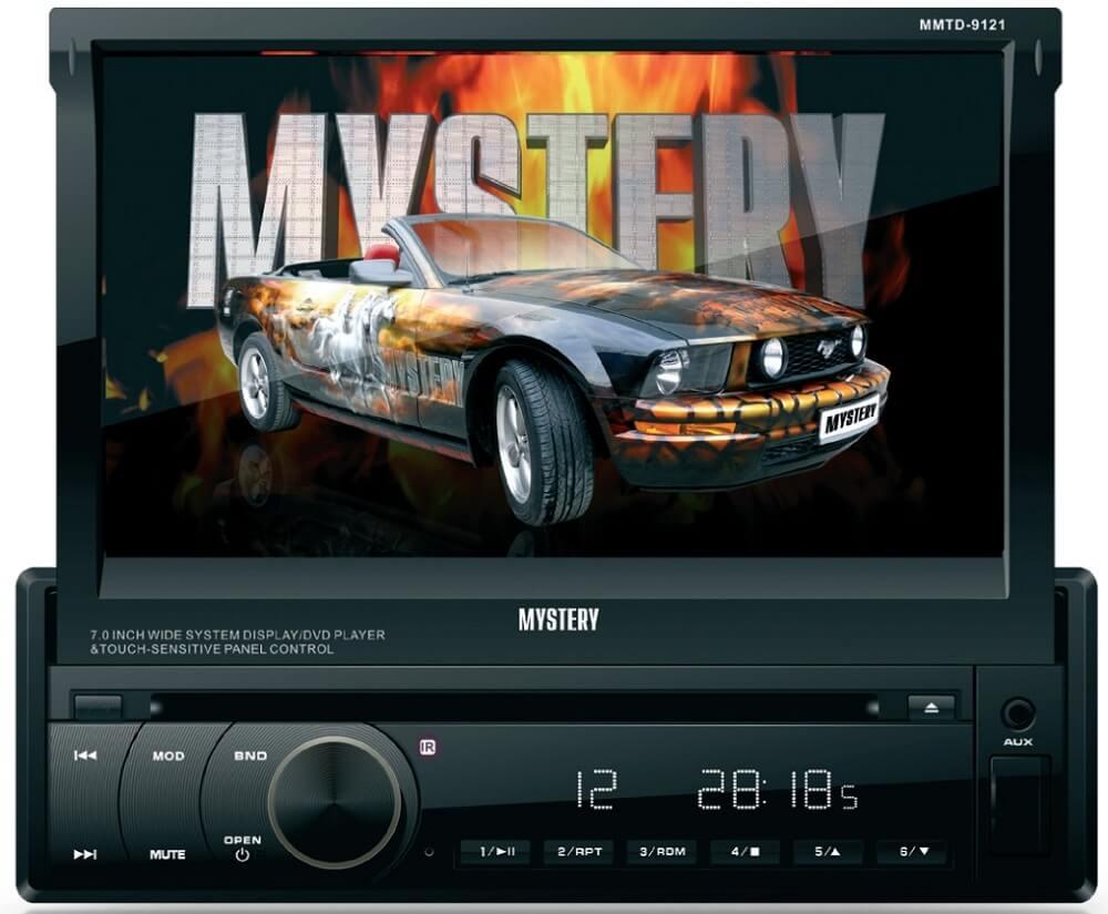 Магнитола с выдвижным экраном Mystery