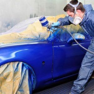 Покраска машины в синий цвет