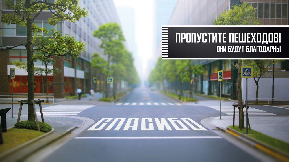 Призыв пропускать пешеходов