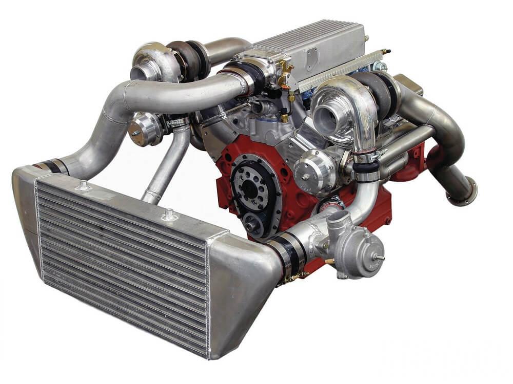 Турбо двигатель с интеркулером