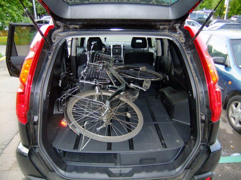 Велосипед в багажнике