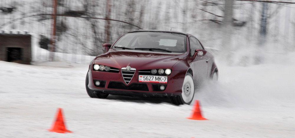 Alfa Romeo зима занос