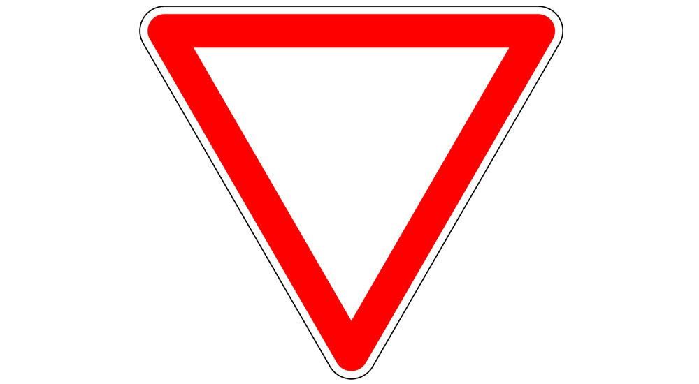 Нарушение знака уступи дорогу