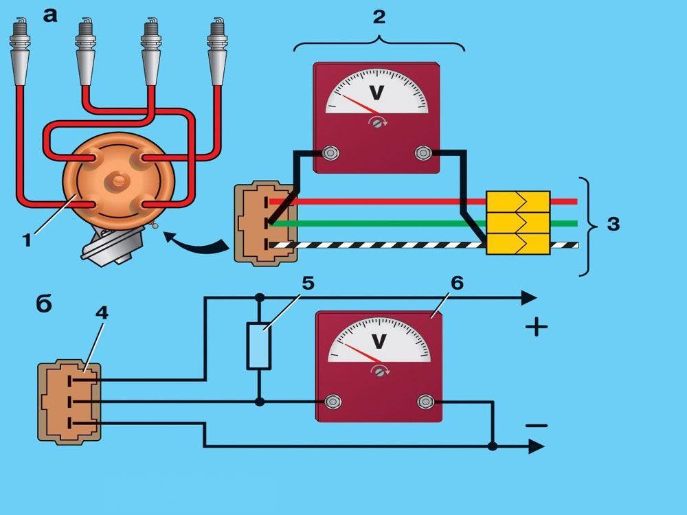 Схема распределителя зажигания