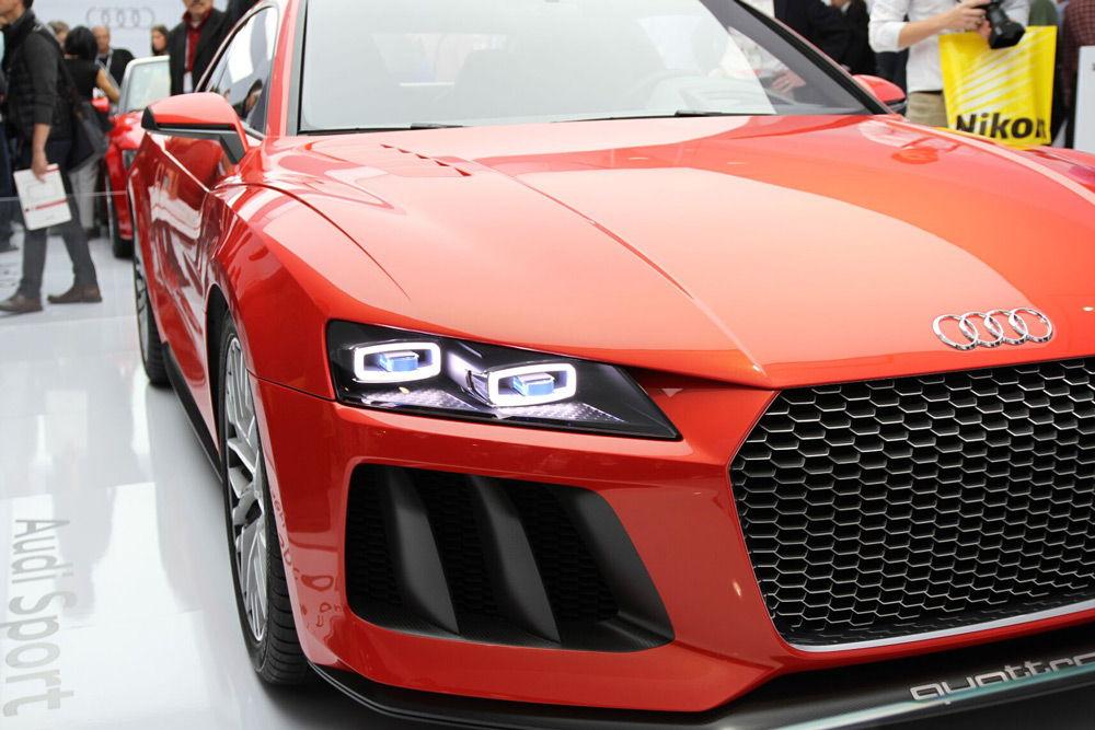 Audi Quattro Sport Laserlight на выставке