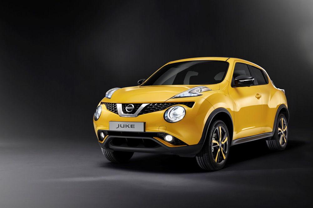 Nissan Juke желтого цвета