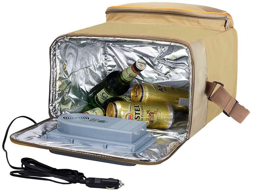 Автомобильный холодильник-сумка с пивом