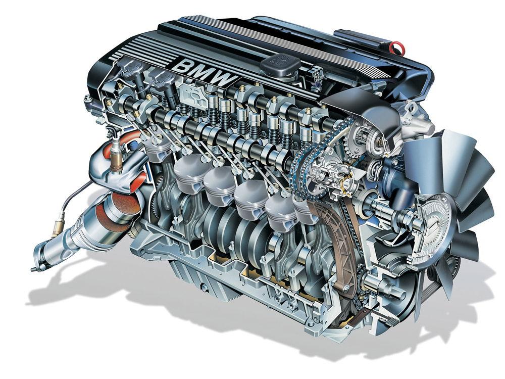 Двигатель автомобиля BMW