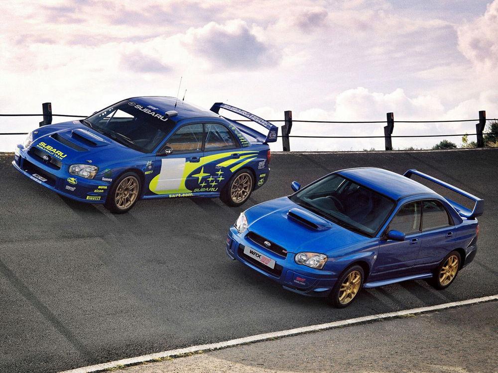 Два автомобиля Subaru Impreza WRX STI