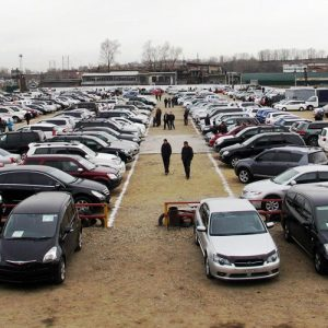 Площадка с поддержанными автомобилями