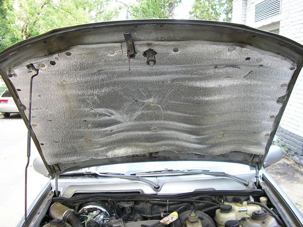 Автомобиль с утеплением капота