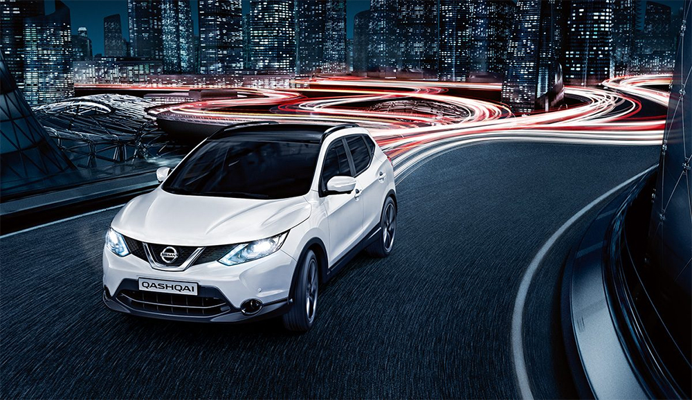 Белый Nissan Qashqai