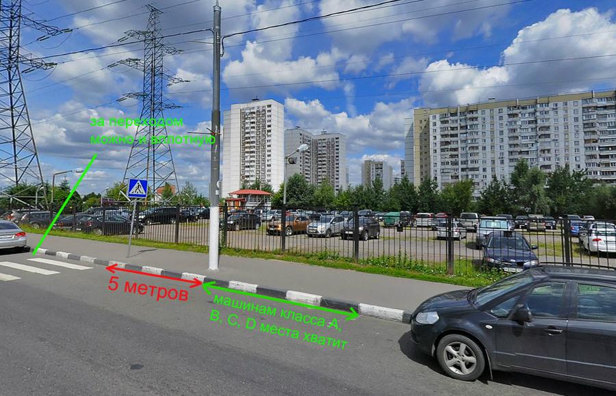 Правила парковки у пешеходного перехода