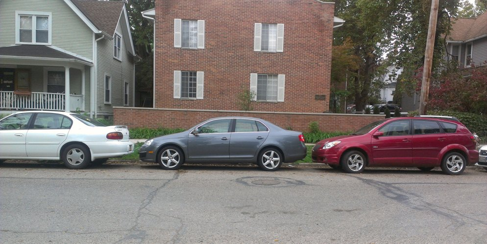 Правильное выполнение параллельной парковки